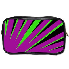 Rays Light Chevron Purple Green Black Toiletries Bags by Mariart
