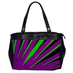 Rays Light Chevron Purple Green Black Office Handbags by Mariart