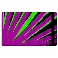Rays Light Chevron Purple Green Black Apple Ipad 3/4 Flip Case by Mariart