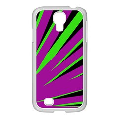 Rays Light Chevron Purple Green Black Samsung Galaxy S4 I9500/ I9505 Case (white) by Mariart