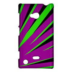 Rays Light Chevron Purple Green Black Nokia Lumia 720 by Mariart