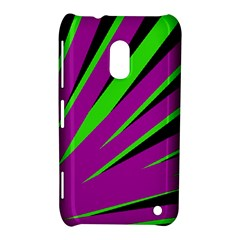 Rays Light Chevron Purple Green Black Nokia Lumia 620 by Mariart