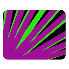 Rays Light Chevron Purple Green Black Double Sided Flano Blanket (large)  by Mariart