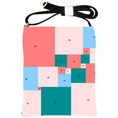 Simple Perfect Squares Squares Order Shoulder Sling Bags by Mariart