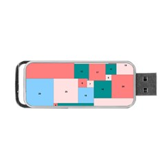 Simple Perfect Squares Squares Order Portable Usb Flash (two Sides) by Mariart