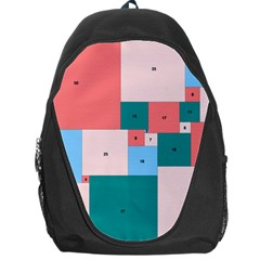 Simple Perfect Squares Squares Order Backpack Bag by Mariart