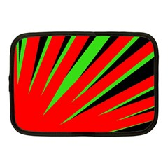 Rays Light Chevron Red Green Black Netbook Case (medium)  by Mariart