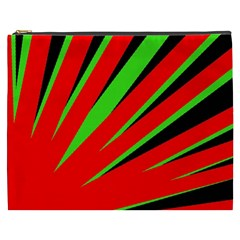 Rays Light Chevron Red Green Black Cosmetic Bag (xxxl)  by Mariart