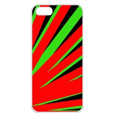 Rays Light Chevron Red Green Black Apple Iphone 5 Seamless Case (white) by Mariart