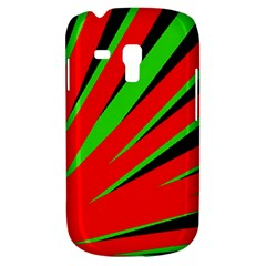 Rays Light Chevron Red Green Black Galaxy S3 Mini by Mariart