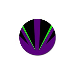 Rays Light Chevron Purple Green Black Line Golf Ball Marker (10 Pack) by Mariart