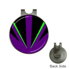 Rays Light Chevron Purple Green Black Line Hat Clips With Golf Markers by Mariart
