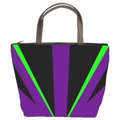 Rays Light Chevron Purple Green Black Line Bucket Bags by Mariart
