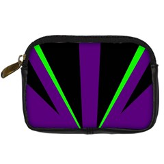 Rays Light Chevron Purple Green Black Line Digital Camera Cases by Mariart