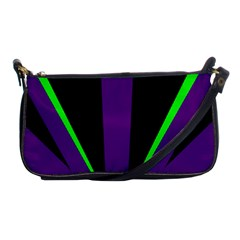 Rays Light Chevron Purple Green Black Line Shoulder Clutch Bags by Mariart