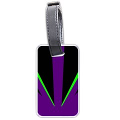 Rays Light Chevron Purple Green Black Line Luggage Tags (two Sides) by Mariart