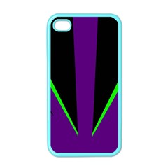Rays Light Chevron Purple Green Black Line Apple Iphone 4 Case (color) by Mariart