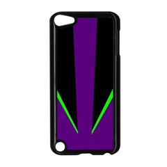 Rays Light Chevron Purple Green Black Line Apple Ipod Touch 5 Case (black) by Mariart