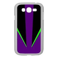Rays Light Chevron Purple Green Black Line Samsung Galaxy Grand Duos I9082 Case (white) by Mariart