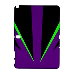 Rays Light Chevron Purple Green Black Line Galaxy Note 1 by Mariart