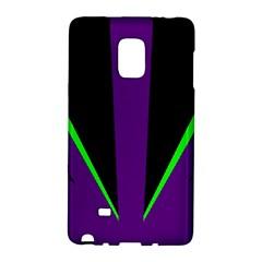 Rays Light Chevron Purple Green Black Line Galaxy Note Edge by Mariart