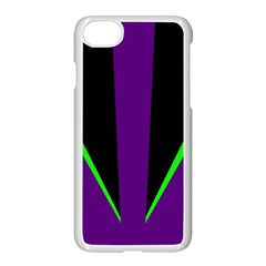 Rays Light Chevron Purple Green Black Line Apple Iphone 7 Seamless Case (white) by Mariart