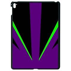Rays Light Chevron Purple Green Black Line Apple Ipad Pro 9 7   Black Seamless Case by Mariart