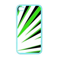 Rays Light Chevron White Green Black Apple Iphone 4 Case (color) by Mariart