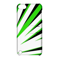 Rays Light Chevron White Green Black Apple Ipod Touch 5 Hardshell Case With Stand by Mariart