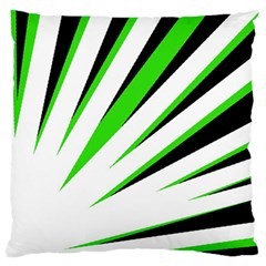 Rays Light Chevron White Green Black Standard Flano Cushion Case (two Sides) by Mariart