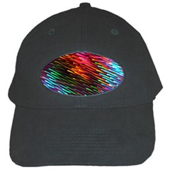 Rainbow Shake Light Line Black Cap by Mariart