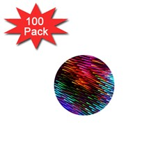 Rainbow Shake Light Line 1  Mini Buttons (100 Pack)  by Mariart