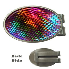 Rainbow Shake Light Line Money Clips (oval)  by Mariart