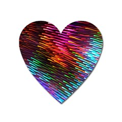 Rainbow Shake Light Line Heart Magnet by Mariart