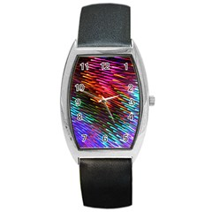 Rainbow Shake Light Line Barrel Style Metal Watch by Mariart