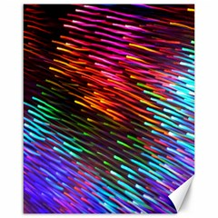 Rainbow Shake Light Line Canvas 16  X 20   by Mariart