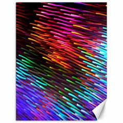Rainbow Shake Light Line Canvas 18  X 24   by Mariart