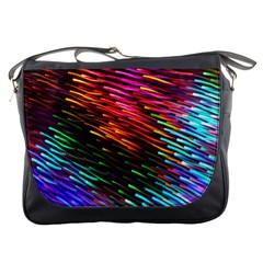 Rainbow Shake Light Line Messenger Bags by Mariart