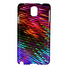 Rainbow Shake Light Line Samsung Galaxy Note 3 N9005 Hardshell Case by Mariart