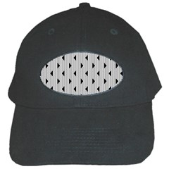Stripes Line Triangles Vertical Black Black Cap by Mariart