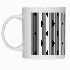 Stripes Line Triangles Vertical Black White Mugs by Mariart