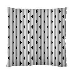 Stripes Line Triangles Vertical Black Standard Cushion Case (two Sides) by Mariart
