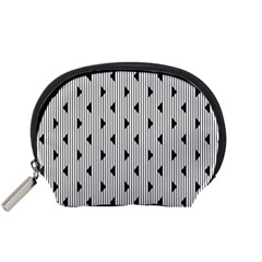 Stripes Line Triangles Vertical Black Accessory Pouches (small)  by Mariart