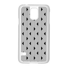 Stripes Line Triangles Vertical Black Samsung Galaxy S5 Case (white) by Mariart