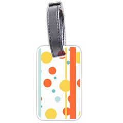 Stripes Dots Line Circle Vertical Yellow Red Blue Polka Luggage Tags (one Side)  by Mariart