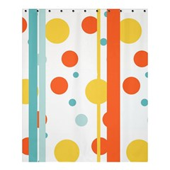 Stripes Dots Line Circle Vertical Yellow Red Blue Polka Shower Curtain 60  X 72  (medium)  by Mariart