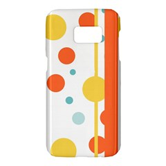 Stripes Dots Line Circle Vertical Yellow Red Blue Polka Samsung Galaxy S7 Hardshell Case  by Mariart