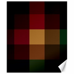Stripes Plaid Color Canvas 20  X 24   by Mariart