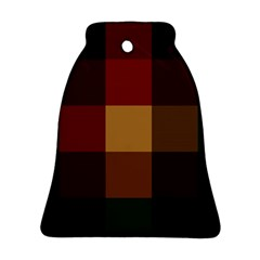 Stripes Plaid Color Ornament (bell) by Mariart