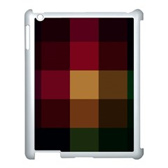 Stripes Plaid Color Apple Ipad 3/4 Case (white) by Mariart